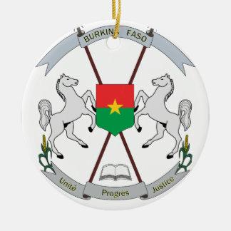 Ornamento De Cerâmica Brasão Burkina Faso - Armoiries Burkina Faso