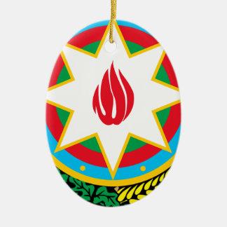 Ornamento De Cerâmica Brasão de Azerbaijan - Азәрбајҹангерби