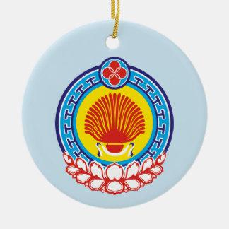 Ornamento De Cerâmica Brasão de Calmúquia