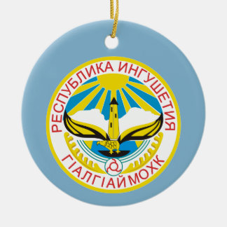 Ornamento De Cerâmica Brasão de Ingushetia