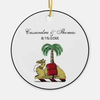 Ornamento De Cerâmica Brasão heráldica da cor da palmeira do camelo