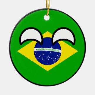 Ornamento De Cerâmica Brasil Geeky de tensão engraçado Countryball