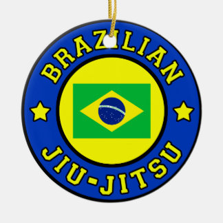 Ornamento De Cerâmica Brasileiro Jiu Jitsu