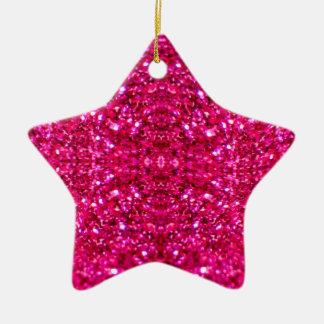 Ornamento De Cerâmica brilho do rosa quente