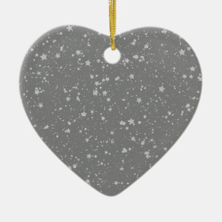 Ornamento De Cerâmica Brilho Stars4 - Prata