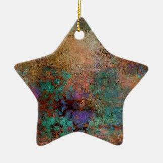 Ornamento De Cerâmica Bronze, cerceta, abstrato do roxo