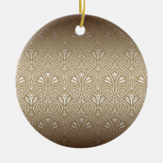 Ornamento De Cerâmica Bronze, ouro, nouveau da arte, art deco, vintage,