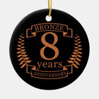 Ornamento De Cerâmica Bronzeie o oitavo aniversário de casamento 8 anos