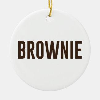 Ornamento De Cerâmica Brownie
