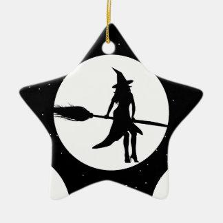 Ornamento De Cerâmica bruxa do Dia das Bruxas