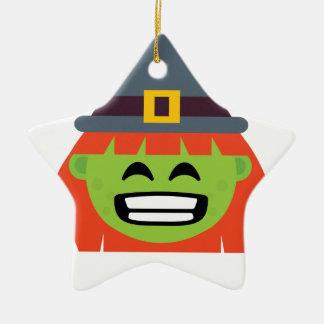 Ornamento De Cerâmica bruxa todo o Emoji o Dia das Bruxas