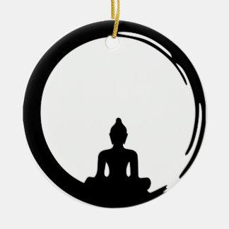 Ornamento De Cerâmica Buda silent