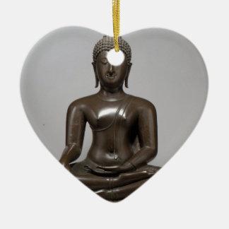 Ornamento De Cerâmica Buddha assentado - século XV