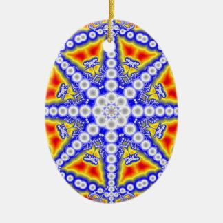 Ornamento De Cerâmica Buddha azul