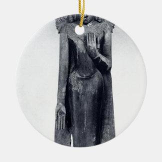Ornamento De Cerâmica Buddha coroado - período pagão