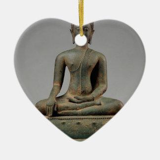 Ornamento De Cerâmica Buddha - Tailândia assentados