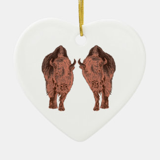 Ornamento De Cerâmica Búfalo selvagem