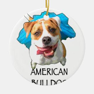 Ornamento De Cerâmica buldogue americano