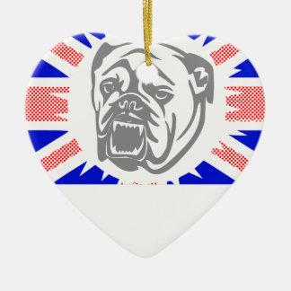 Ornamento De Cerâmica Buldogue britânico