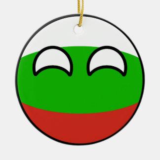 Ornamento De Cerâmica Bulgária Geeky de tensão engraçada Countryball