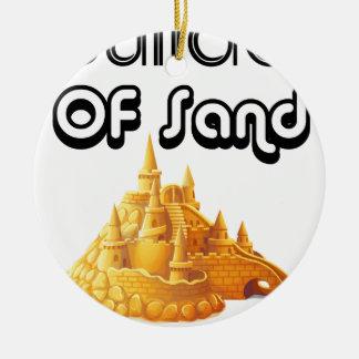 Ornamento De Cerâmica Bulider de castelos da areia