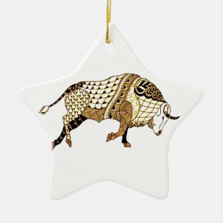 Ornamento De Cerâmica Bull 1