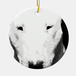 Ornamento De Cerâmica Bull terrier preto e branco