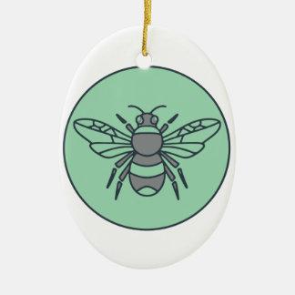 Ornamento De Cerâmica Bumble linha do círculo da abelha a mono