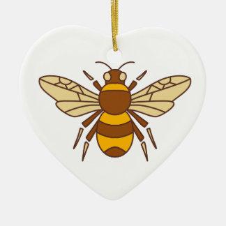 Ornamento De Cerâmica Bumble o ícone da abelha