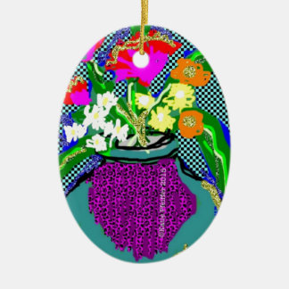Ornamento De Cerâmica Buquê da flor da modificação quando Im que sentem