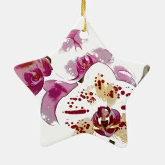 Ornamento De Cerâmica Buquê da flor da orquídea do Phalaenopsis