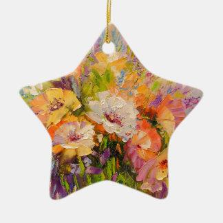Ornamento De Cerâmica Buquê das flores