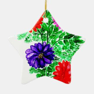 Ornamento De Cerâmica Buquê das flores Art2