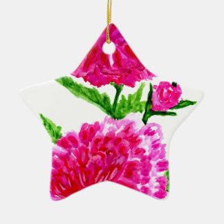 Ornamento De Cerâmica Buquê das flores Art5