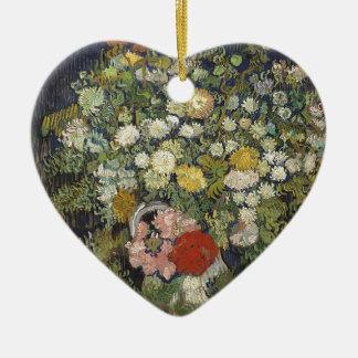 Ornamento De Cerâmica Buquê das flores em um vaso