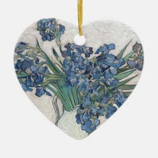 Ornamento De Cerâmica Buquê das flores na máscara azul