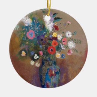 Ornamento De Cerâmica Buquê das flores - Odilon Redon