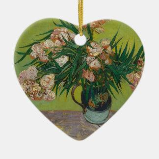 Ornamento De Cerâmica Buquê de flores cor-de-rosa no vaso