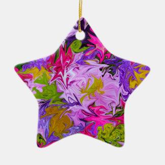 Ornamento De Cerâmica Buquê do design floral da arte abstracta das cores
