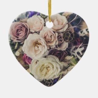 Ornamento De Cerâmica Buquê floral Wedding