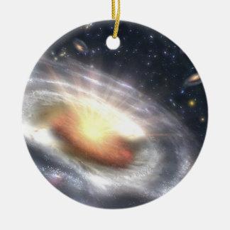 Ornamento De Cerâmica Buraco negro do Quasar de NASAs