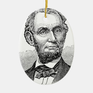 Ornamento De Cerâmica Busto de Abe Lincoln do vintage