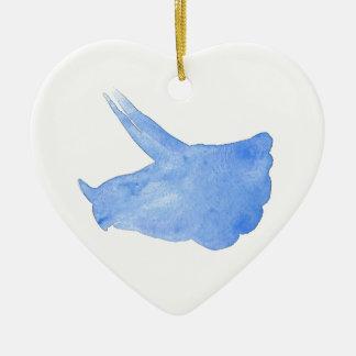 Ornamento De Cerâmica Cabeça azul do Triceratops