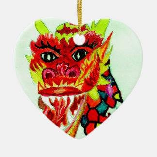 Ornamento De Cerâmica Cabeça chinesa do dragão