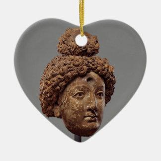 Ornamento De Cerâmica Cabeça de um Buddha ou de um Bodhisattva