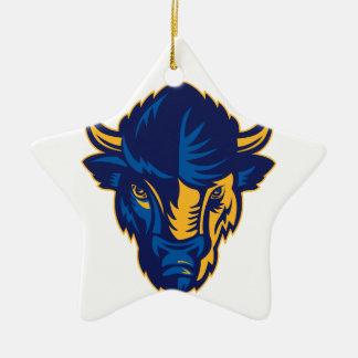 Ornamento De Cerâmica Cabeça do bisonte americano retro