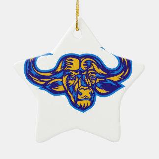 Ornamento De Cerâmica Cabeça do búfalo do cabo retro