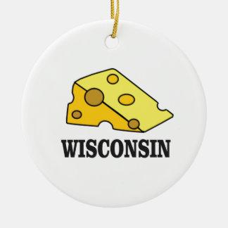 Ornamento De Cerâmica Cabeça do queijo de Wisconsin