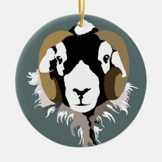 Ornamento De Cerâmica Cabeça dos carneiros de SWaledale