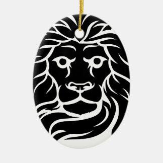 Ornamento De Cerâmica Cabeça dos leões